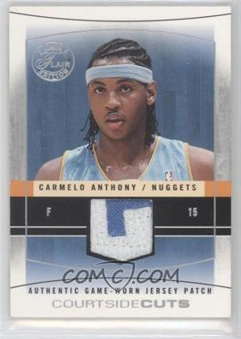 2003-04 Flair Final Edition - Courtside Cuts Jerseys - Silver Patch #CC-CA - Carmelo Anthony /50
