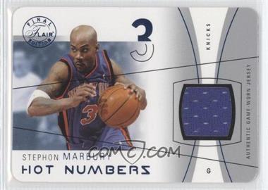 2003-04 Flair Final Edition - Hot Numbers Jerseys - Blue Die-Cut #HN-STM - Stephon Marbury /25