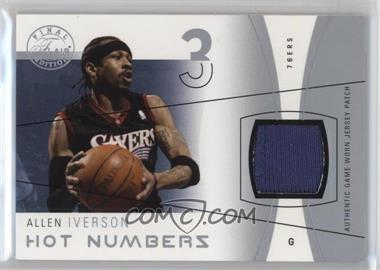 2003-04 Flair Final Edition - Hot Numbers Jerseys - Silver Patch #HN-AI - Allen Iverson /50