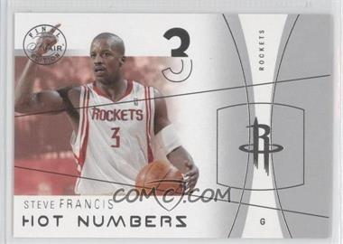 2003-04 Flair Final Edition - Hot Numbers #23 HN - Steve Francis /500