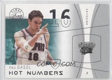 2003-04 Flair Final Edition - Hot Numbers #8 HN - Pau Gasol /500