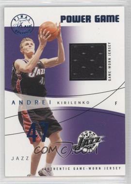 2003-04 Flair Final Edition - Power Game Jerseys - Blue #PG-AK - Andrei Kirilenko /250