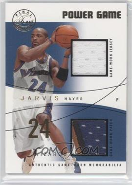 2003-04 Flair Final Edition - Power Game Jerseys - Dual Gold Jersey Number Parallel Patch #PGD-JH - Jarvis Hayes /24