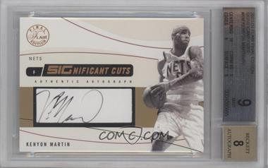 2003-04 Flair Final Edition - SIGnificant Cuts Autographs - [Autographed] #SIG-KEM - Kenyon Martin /50 [BGS 9]