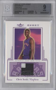 2003-04 Fleer Avant - Materials - Patch #AEW/CB - Chris Bosh /25 [BGS 9]
