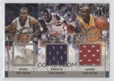 2003-04 Fleer Mystique - Rare Finds - Dual Jersey #RFD-SF/GP - Tony Parker, Steve Francis, Gary Payton /250