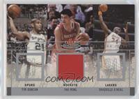 Tim Duncan, Yao Ming, Shaquille O'Neal /300