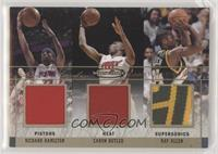 Richard Hamilton, Caron Butler, Ray Allen [Noted] #/15