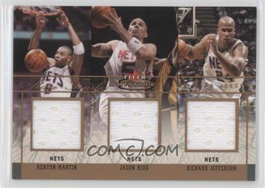 2003-04 Fleer Mystique - Rare Finds - Triple Jersey #RFT-KM/JK/RJ - Kenyon Martin, Jason Kidd, Richard Jefferson /150