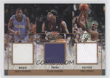 2003-04 Fleer Mystique - Rare Finds - Triple Jersey #RFT-TM/AI/PP - Tracy McGrady, Allen Iverson, Paul Pierce /150