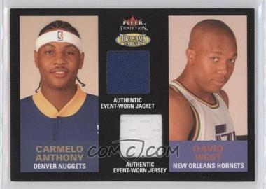 2003-04 Fleer Tradition - Throwback Threads Dual Player Dual Jersey #TTD-CA/DW - Carmelo Anthony, David West /299
