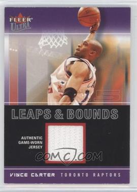 2003-04 Fleer Ultra - Leaps & Bounds - Jersey #LB-VC - Vince Carter