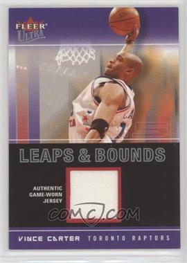 2003-04 Fleer Ultra - Leaps & Bounds - Jersey #LB-VC - Vince Carter