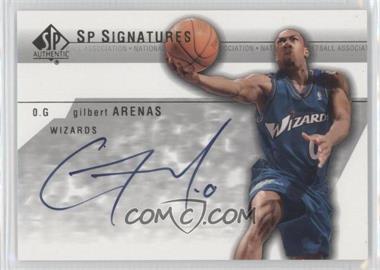 2003-04 SP Authentic - SP Signatures #GA-A - Gilbert Arenas