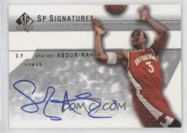2003-04 SP Authentic - SP Signatures #SA-A - Shareef Abdur-Rahim