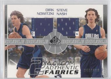 2003-04 SP Game Used - Authentic Fabrics Dual #DN/SN-J - Dirk Nowitzki, Steve Nash /100