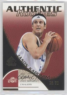 2003-04 SP Game Used - [Base] - Gold #137 - Jason Kapono /50