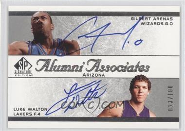 2003-04 SP Signature Edition - Alumni Associates Dual #AA-AW - Gilbert Arenas, Luke Walton /100