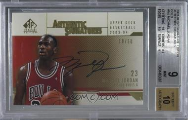 2003-04 SP Signature Edition - Authentic Signatures - Gold #AS-MJ - Michael Jordan /50 [BGS 9 MINT]