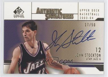2003-04 SP Signature Edition - Authentic Signatures - Gold #AS-ST - John Stockton /50