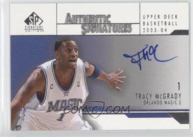 766b9e0c8efa 2003-04 SP Signature Edition - Authentic Signatures  AS-TM - Tracy McGrady