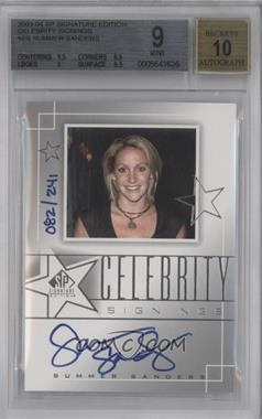 2003-04 SP Signature Edition - Celebrity Signings #CS-SS - Summer Sanders /241 [BGS 9]