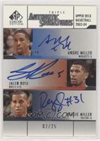 Andre Miller, Jalen Rose, Reggie Miller #/25