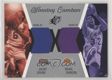 2003-04 SPx - Winning Combos #WC15 - Julius Erving, Magic Johnson