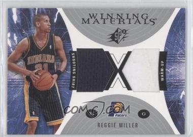 2003-04 SPx - Winning Materials #WM10 - Reggie Miller