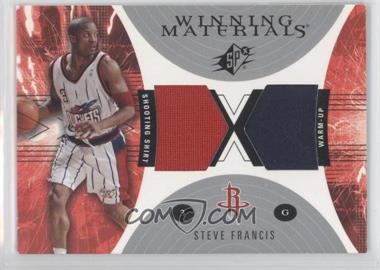 2003-04 SPx - Winning Materials #WM25 - Steve Francis