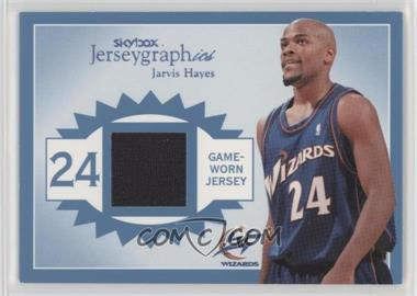 2003-04 Skybox Autographics - Jerseygraphics - Blue #J-JH - Jarvis Hayes /350