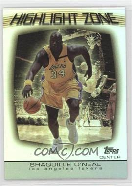 2003-04 Topps - Highlight Zone #HZ-2 - Shaquille O'Neal
