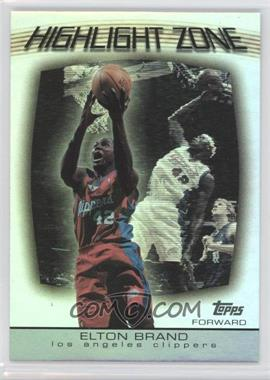 2003-04 Topps - Highlight Zone #HZ-6 - Elton Brand