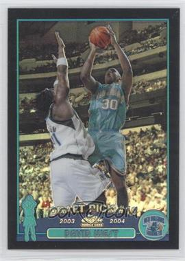 2003-04 Topps Chrome - [Base] - Black Refractor #128 - David West /500