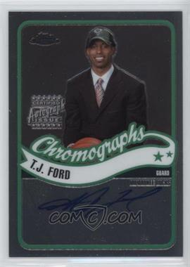 2003-04 Topps Chrome - Chromographs #CA-TF - T.J. Ford