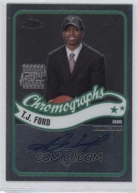 2003-04 Topps Chrome - Chromographs #CA-TF - T.J. Ford