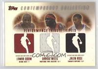 Lamar Odom, Jalen Rose, Darius Miles #/50
