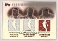 Paul Pierce, Antoine Walker, Shawn Marion #/50