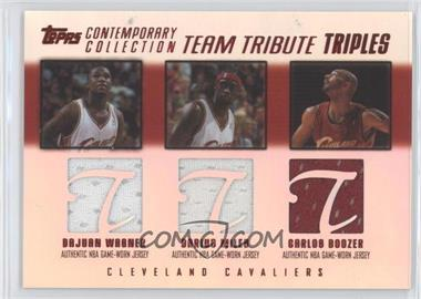 2003-04 Topps Contemporary Collection - Team Tribute Triples Relics - Red #TTT-WMB - Dajuan Wagner, Darius Miles, Carlos Boozer /50