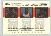 Rasheed Wallace, Travis Outlaw, Qyntel Woods /250