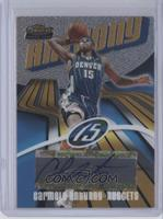 Rookie Autograph - Carmelo Anthony #/999