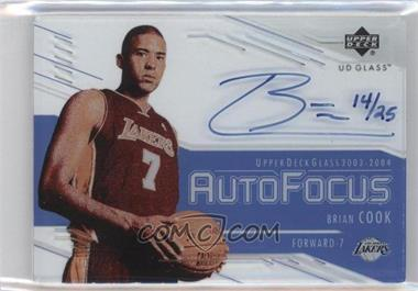 2003-04 UD Glass - Auto Focus - The Crystal Collection #BC - Brian Cook /25