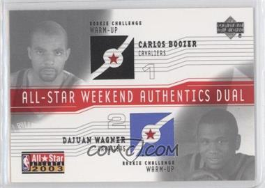 2003-04 Upper Deck - All-Star Weekend Authentics Dual #AS-CB/DW - Carlos Boozer, Dajuan Wagner