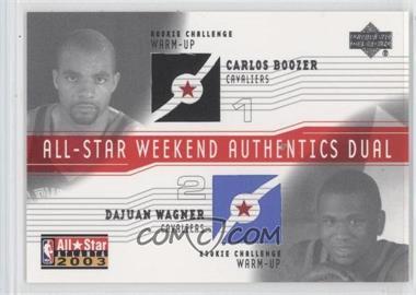2003-04 Upper Deck - All-Star Weekend Authentics Dual #AS-CB/DW - Carlos Boozer, Dajuan Wagner