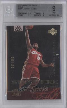2003-04 Upper Deck - [Base] - Gold UD Exclusives #301 - Star Rookie - Lebron James /100 [BGS 9]