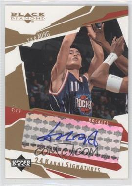 2003-04 Upper Deck Black Diamond - 24 Karat Signatures - [Autographed] #YM - Yao Ming