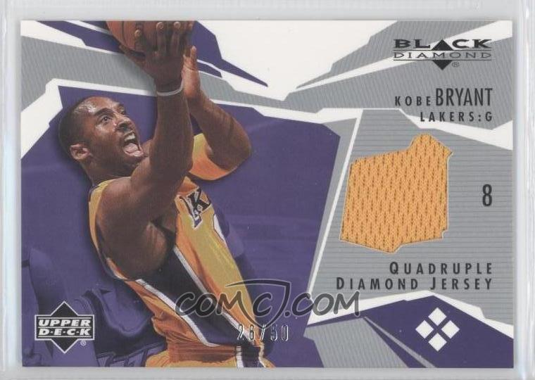 ... The Lakers gave Kobe Bryant a 4.87 carat diamond retirement ring  2003-04 Upper Deck Black Diamond - Diamond Jersey - Quadrupl ... 881a6461c