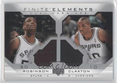 2003-04 Upper Deck Finite - Elements Dual Warm-Ups #FE25 - David Robinson, Speedy Claxton