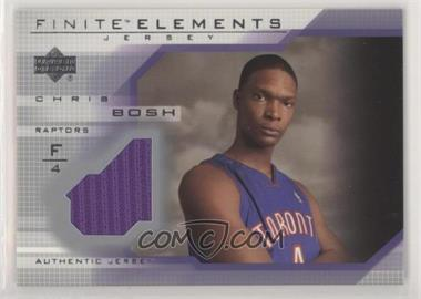 2003-04 Upper Deck Finite - Elements Jerseys #FJ20 - Chris Bosh