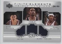 Yao Ming, James Posey, Cuttino Mobley /50